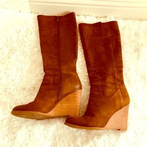 """Franco Sarto Women's Brown """"Osteria"""" Boot Wedges"""